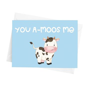 You A-Moos Me Greeting Card