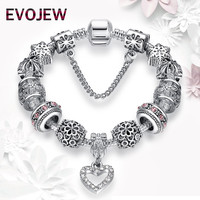 Christmas Gift 925 Antique Silver Charms Beads Fit Original Bracelet & Bangle with Daisy Heart Charm Bracelet for Women Jewelry