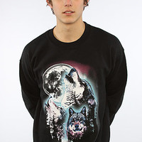 The Wolf Pack Crew Sweatshirt in Black