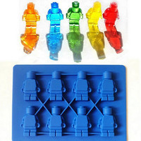Minifigure Building Brick Silicone Ice Tray Candy Chocolate Mold For Lego Lover@