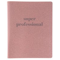 Super Professional Vinyl Undated Planner in Pink