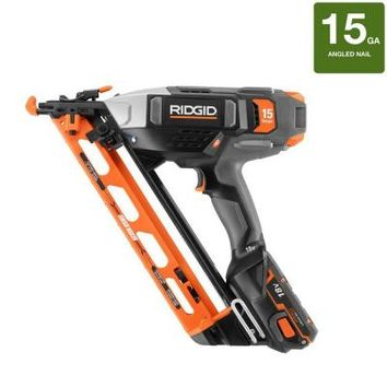 RIDGID, 18-Volt Cordless 15-Gauge Angled Finish Nailer, R250AF18 at The Home Depot - Tablet