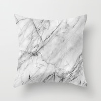 Marble Throw Pillow by Patterns And Textures