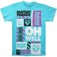 Mayday Parade Men's  Oh Well T-shirt Blue