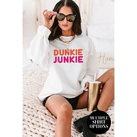 """""""Dunkie Junkie"""" Graphic Multiple Shirt Options (White) - Print On Demand"""