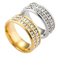 Boys & Men Shiny Diamonds Ring Jewelry