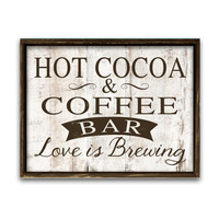 Hot cocoa and coffee bar sign coffee signs wedding signs coffee shop signs business signs coffee lovers gifts wooden signs