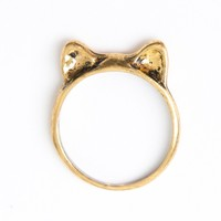 GOLD CAT EARS RING