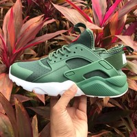 Best Online Sale Nike Air Huarache 4 Run Rainbow Ultra Breathe Women Men Green Reflective vampire Running Sport Casual Shoes Sneakers - 857909-833