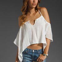 JEN'S PIRATE BOOTY Cliff Side X Back Top in White tank cami