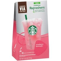 Walmart: Starbucks VIA Refreshers Strawberry Lemonade Instant Beverage Mix, 6 count, 4.16 oz