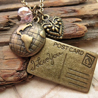 Postcard for you. a charm necklace