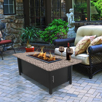 Carmel Chat Height Coffee Table Fire Pit by California Outdoor Concept