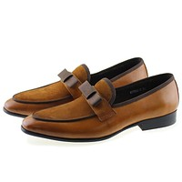Suede Leather Formal Shoes With Bow Tie