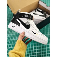 Nike Air Force 1 07 Mid Utility Pack White Black Fashion Shoes