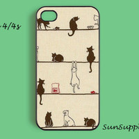 CAT iPhone 4 case iPhone 4s case iPhone cases iPhone 4 cover