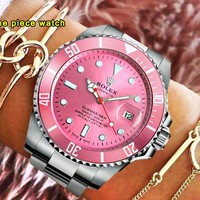 Rolex tide brand men and women water ghost series quartz watch pink
