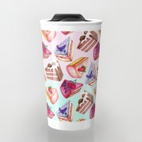 Let Them Eat Cake Travel Mug by Perrin Le Feuvre | Society6