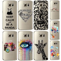 2015 Newest S6Edge Plus Case Cute Animal Elephant Phone Cases Transparent soft TPU Back Phone Cover For Samsung Galaxy S6 Edge+