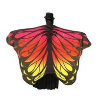 Awesome Multicolored Butterfly Shape Holiday Cloak Shawl