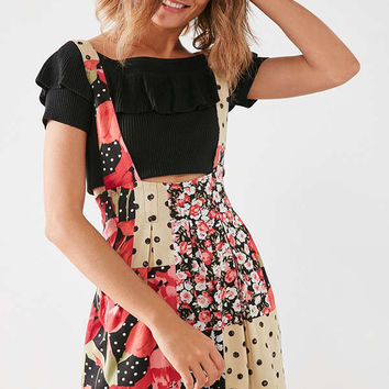 Silence + Noise Kitty Skirtall Overall   Urban Outfitters