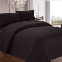 Red Nomad Microfiber Bedding Set (Queen, Black) - Non-Slip Deep Pockets - Cute & Comfortable Bed Sheets & Pillow Cases