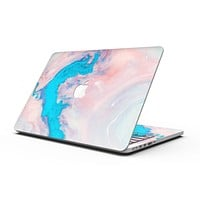 Marbleized Pink and Blue Paradise V322 - MacBook Pro with Retina Display Full-Coverage Skin Kit