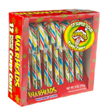 WarHeads Super Sour Candy Canes: 12-Piece Box