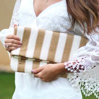 Classic Summer Straw Clutch | Monday Dress Boutique