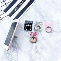 Universal 360 Marble Ring Grip Phone Holder for iP