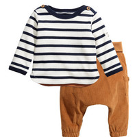 Top and Corduroy Pants - from H&M