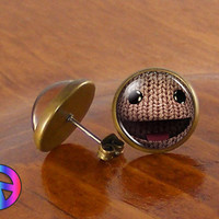 Little Big Planet PS3 PSP PS Vita Game SackBoy Earrings Ear Stud Studs Gift