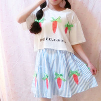 Hello Carrot 2 Piece Set Dress SP152251 from SpreePicky