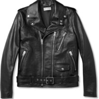 Saint Laurent Slim-Fit Leather Biker Jacket | MR PORTER