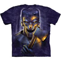 THE WOODSMAN The Mountain Big Face Tin Man Axe Scary Halloween T-Shirt S-3XL NEW