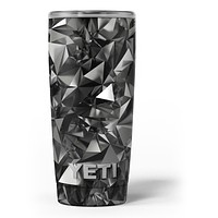 Black 3D Diamond Surface - Skin Decal Vinyl Wrap Kit compatible with the Yeti Rambler Cooler Tumbler Cups