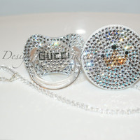 Baby Bling Pacifier Gucci made with Swarovski Crystal (Avent Philips) By Crystalolika