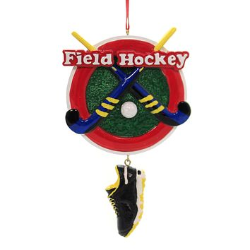 Holiday Ornaments FIELD HOCKEY w/ SHOE Ornament Sport Stick Ball W8385