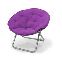 Large Polysuede Moon Chair