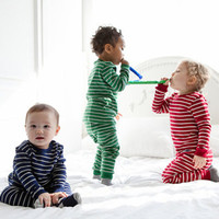 New Year Xmas Toddler Infant Kids Baby Girls Boys Stripe Clothing Sets  Nightwear Set  Pajamas Sleepwear Pjs Tracksuit Clothes