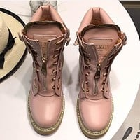 Balmain Sneakers Sport Shoes Boots Pink