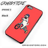 Pug Bicycle For Iphone 5 Iphone 5S Case UY