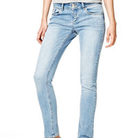 Jayden Mid-Rise Skinny Jeans in Pacific Blue - Light Blue