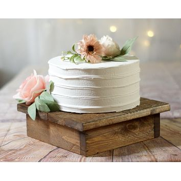 """Cake Stand,  10"""" Wood Reclaimed Wood"""