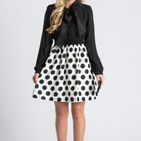 Rory Black And White Polka Dot Skirt