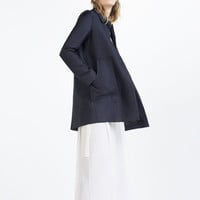COAT WITH PETER PAN COLLAR - View All-OUTERWEAR-WOMAN-SALE | ZARA United States