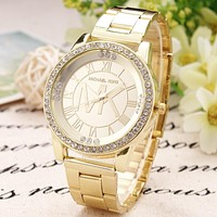 Perfect MK Diamonds Fashion Quartz Classic Business Watches Wrist Watch