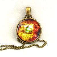 10% SALE  Necklace Burning Orion Nebula Gift For Her