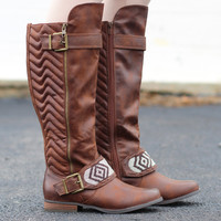 Trail Rider Beaded Strap Boots {Tan}