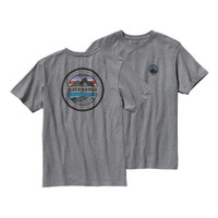 Patagonia Men's Rivet Logo Cotton T-Shirt- Gravel Heather